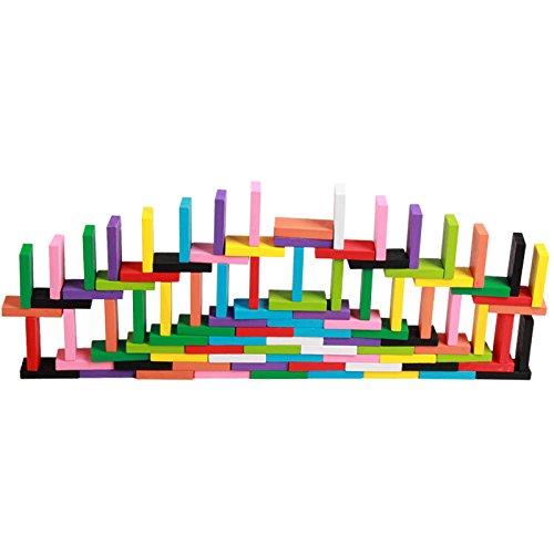 whx Juego estándar de dominó adulto de 12 grandes colores, los ni?os de educación temprana juguetes educativos de madera 120 tabletas - Juegos De Ni??as De 2 A 4 A??os