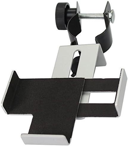 Solo Mark metal Smartphone adaptador y Mount Soporte de trípode para catalejo/Telescopio/Microscopio/Binocular 31,75 mm (1,25 pulgadas) y 0.965 pulgadas de para oculares con una anchura de 25 mm de 39 mm mm