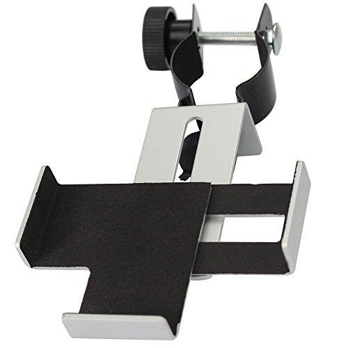 Solomark Metall Smartphone Adapter und mount Stativ-Halterung für Spektiv/Teleskop/Mikroskop/ Ferngläser 31,75 mm (1,25' Zoll)und 0.965' zoll- Für Okulare mit einer Breite von 25mm-39mm mm Durchmesser,und Für Smartphones mit einer Breite von 57-95mm