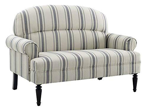 (Pulaski Roll Arm Upholstered Sofa in Blue)