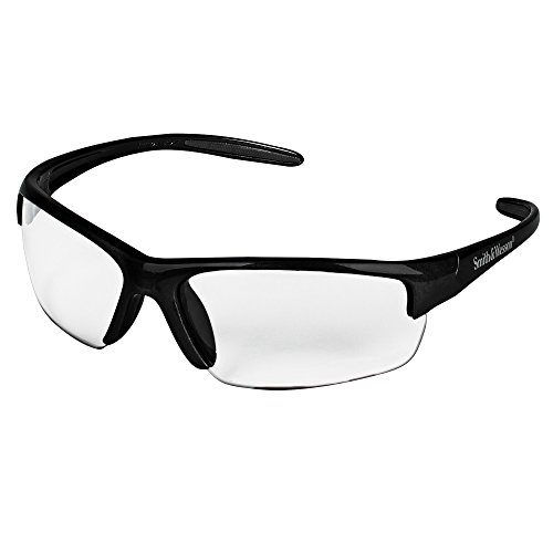 Smith and Wesson Safety Glasses (21296), Equalizer Safety Eyewear, Clear Anti-Fog Lens, Gunmetal Frame, 12 Pairs / Case