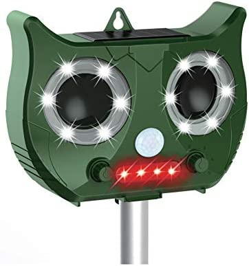 猫よけ 動物撃退器 超音波 ソーラー 充電給電&USB充電&LED強力フラッシュライト 猫よけグッズ 糞被害 鳥害対策 猫除け 鳥除け 犬除け ネズミよけ IPX4防水