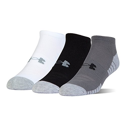 Under Armour HeatGear Tech No Show - 3-Pack MD Graphite