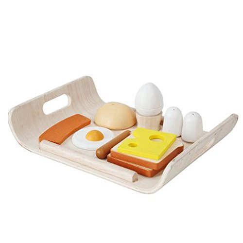 (Plan Toys Breakfast Menu (Solid Wood Version))