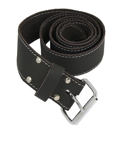 Oil Tan Leather 2 Wide Belt with Roller Buckle
