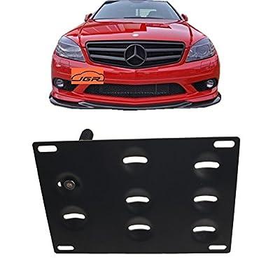 JGR Racing Car No drill Tow Eye Front Bumper Tow Hole Hook License Plate Mount Bracket Holder Adapter Relocation Kit For Mercedes W204 C-Class W212 E Class C117 CLA-Class W221 S-Class W166 ML X204 GLK: Automotive