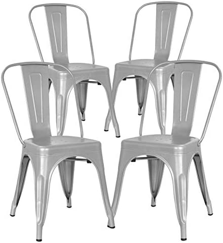 Poly and Bark Metal Modern Dining Chair
