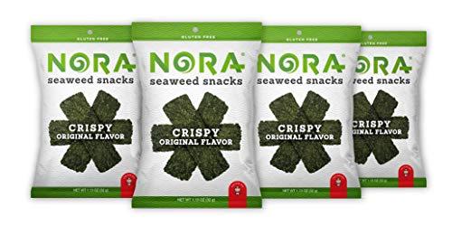 Nora Crispy Seaweed Original- Premium Seaweed Snack (4 count, 32g pack)