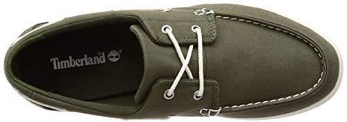 Timberland Heren Newport Bay Twee-eye Canvas Mocassin Groen (druivenblad Canvas A58)