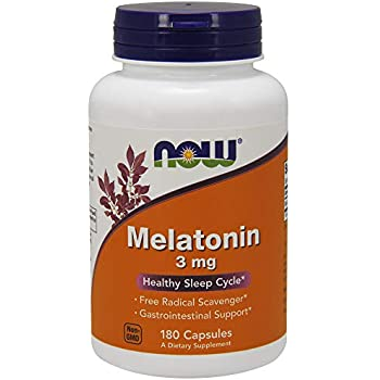 NOW Melatonin 3 mg,180 Capsules