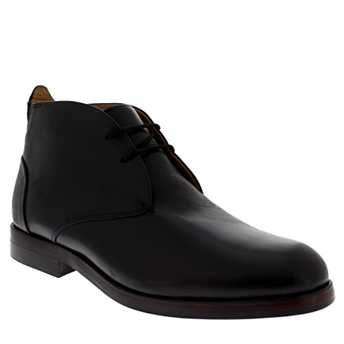 H by Hudson Mens Matteo Calf Formal Leather Office Smart Chukka Boots Black CgDNay