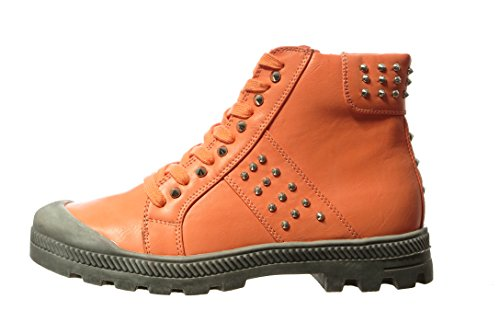 Wanted Womens Prima Pampa Lace-Up Ankle Bootie Coral KDYlPazdv