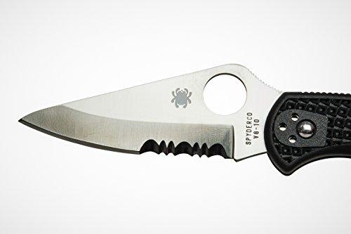 Spyderco C11PSBK Delica Lockback Knife, Black, 7.13-Inch by Spyderco (Image #3)