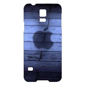 for Samsung Galaxy S5 Mini 3D phone case apple logo vintage style Plastic phone Case luxury logo