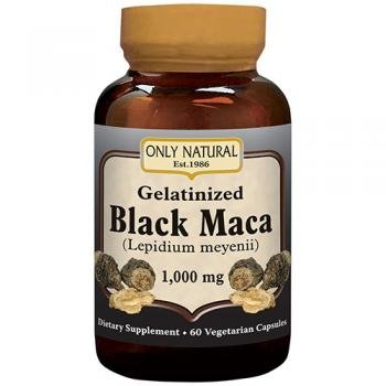 Gelatinized Maca Root (ONLY NATURAL Gelatinized Black Maca 1000 mg 60 Vgc, 0.02 Pound)