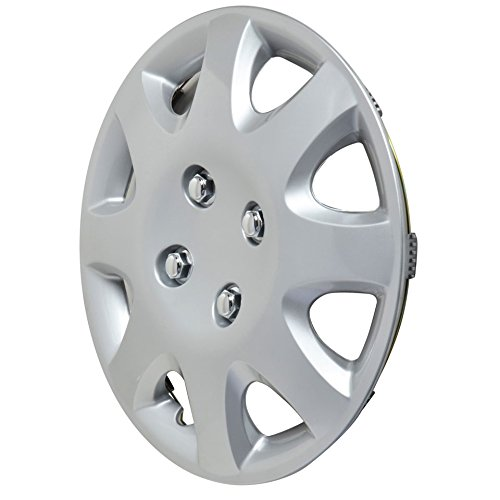 BDK Honda Civic Style Hubcaps Wheel Cover, 14'' Silver Replica Cover, OEM Factory Replacement (4 Pieces) 1998-2002 Style by BDK (Image #2)