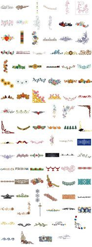 est of Embroidery Machine Designs CD borders 100 DESIGNS ()