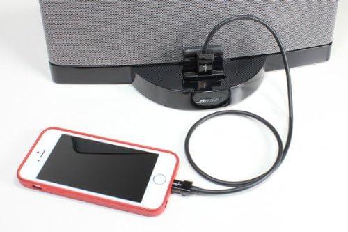 Cable de extensi/ón//alargador para iPhone y para iPad CableJive dockXtender L Negro 60 cm