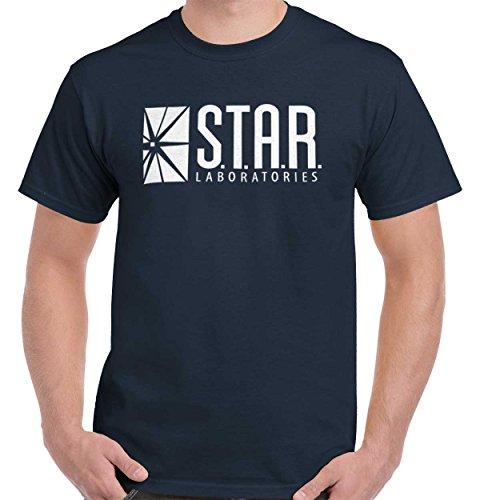 Brisco Brands Star Labs Comic Book Superhero Nerdy Geeky T Shirt Tee