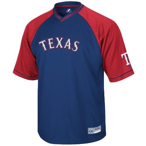 MLB Texas Rangers Full Force V-Neck Shirt (Large) (Texas Rangers V Neck)