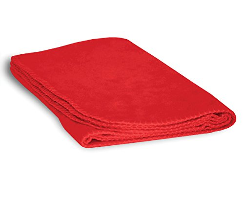 Luxurious Cozy Premium Super Soft 30 x 40 Fleece Throw Baby Blanket for Strollers, Car Seats, Kids Bed & Pets (Poppy Red)