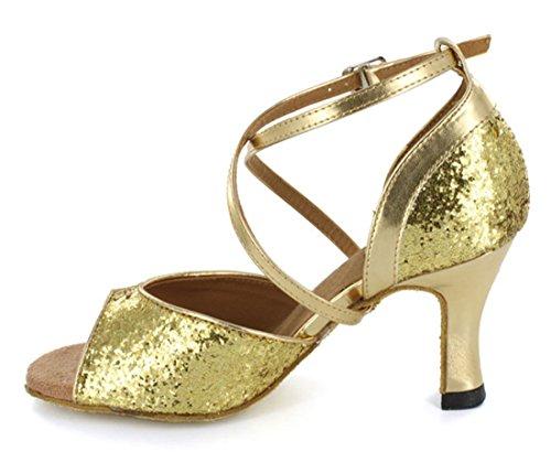 Tda Womens Ankelbandet Glitter Syntetisk Salsa Tango Balsal Latin Modern Dans Bröllop Skor Guld