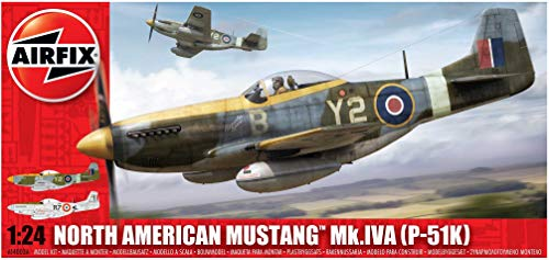 Airfix North American Mustang Mk.IVA P-51K 1:24 Plastic Model Plane A14003A