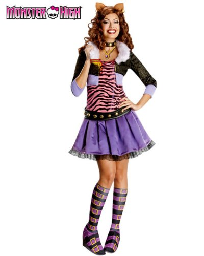 [Deluxe Clawdeen Wolf Costume - Large - Dress Size] (Clawdeen Wolf Costumes With Wig)