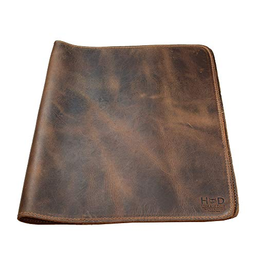 - Hide & Drink, Rustic Leather Journal Cover (8.5 x 11 in.) / Refillable Moleskine Cahier XXL Handmade Includes 101 Year Warranty :: Bourbon Brown