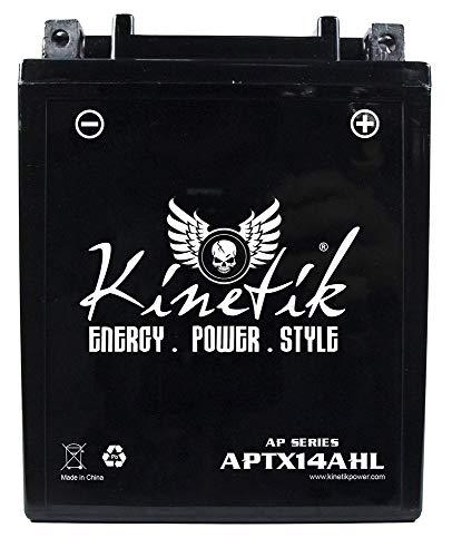 (Kinetik APTX14AHL 12V 12Ah Battery for Suzuki 1100 GSX1100F Katana 1988-1993)
