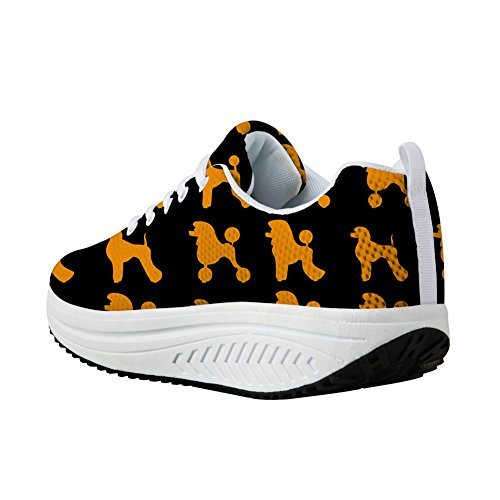 Women Dog Fashion Shoes Poodle Walking Slimming orange Black Poodle Bigcardesigns Sneaker wgPqIq