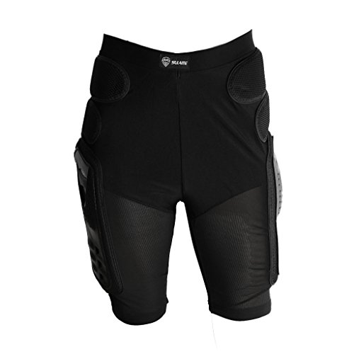 D DOLITY Protective Armor Pants, Heavy Duty Body Protection Hip Pads Motorcycle Bicycle Ski Armour Pants for Men & Women, XX-Large