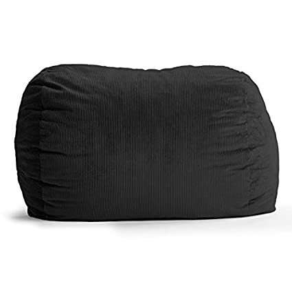 Fuf Extra Large Bean Bag Sofa Fabric: Wide Wale Corduroy Black