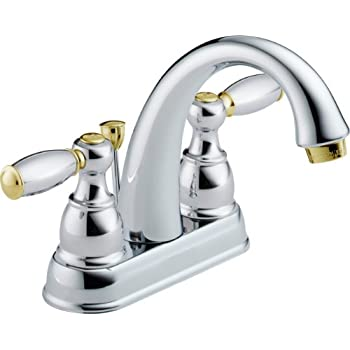 Gold And Chrome Bathroom Faucets.Two Tone Chrome And Brass Bathroom Faucet Amazon Com