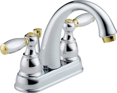 - Delta 25995LF-CB-D Two Handle Centerset Bathroom Faucet, Chrome/Brass
