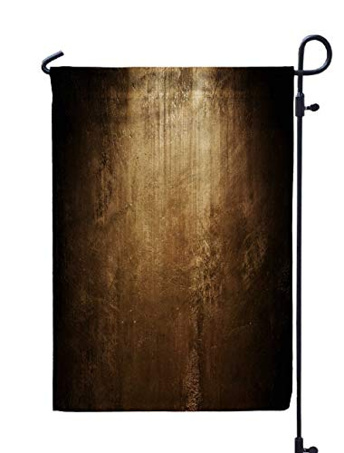 (GROOTEY Welcome Outdoor Garden Flag Home Yard Decorative 12X18 Inches Abstract Grunge Texture Double Sided Seasonal Garden)