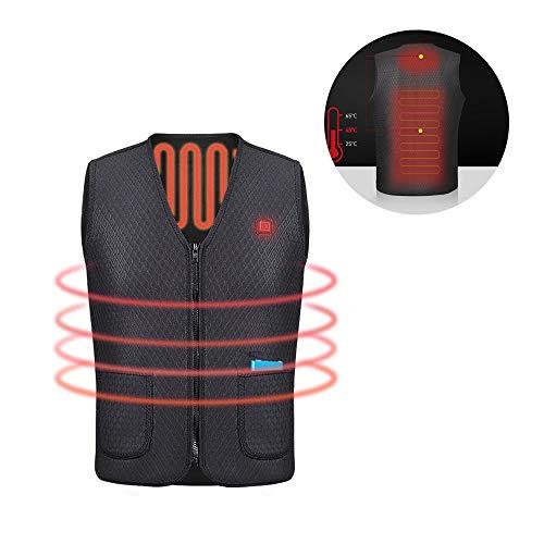 USB 5v Heated Vest Washable Size Adjustable Safe Warm for Men Women (No Battery)