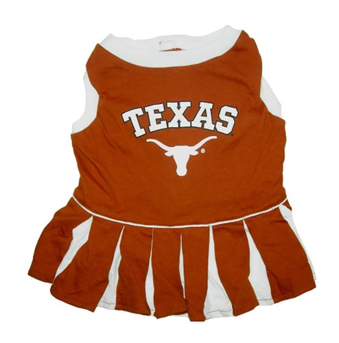 Mirage Pet Products Dog Apparel Texas Longhorns Sports Pet CheerLeading Dress