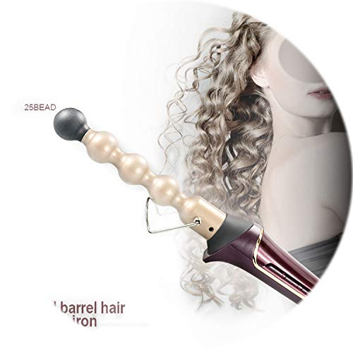 9mm Roller Bead - 110-240V Professional Hair Curler Ceramic Roller Bead Curling irons Wand Machine 13-25mm Magic Curls Styling Tools Hair Curler,UK