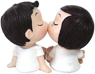 VORCOOL Figuras decorativas par de resina jardín Ornament muñeca pequeño coche mesa boda Mode-Figur decoración: Amazon.es: Hogar