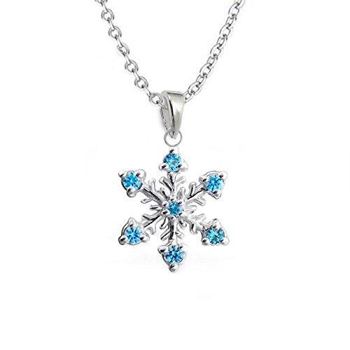 gh1a de copo de nieve colgante + cadena 925plata auténtica niña niños Frozen regalo Idea