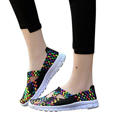 Stringate Tessuto Comode Stringate Sneaker Grande da Scarpe Scarpe Sportive Comode Donna Primo Nero Promozione in Suole Giorno Casual Corsa Piattaforma Traspirante Casual Scarpe xw44Fa70qY