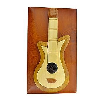 Hecho a mano de madera Art caja de taracea guitarra eléctrica, con ...