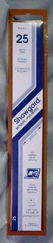 (Showgard Strip Style Black Stamp Mounts Size 25)