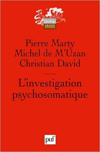 Livre gratuits en ligne L'investigation psychosomatique pdf, epub