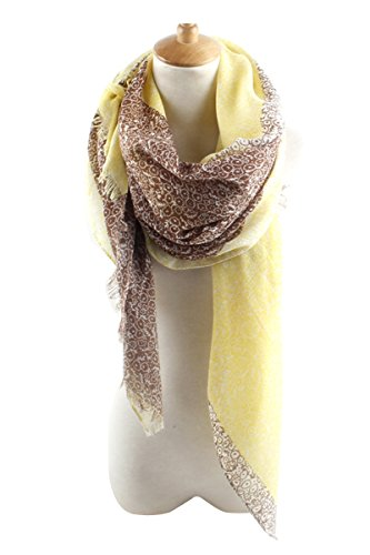 GERINLY MODAL Scarves: Soft Womens Two-tone Flowerlet Print