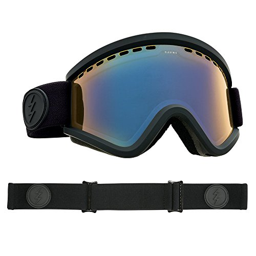 Electric Visual EGV Matte Black/Yellow Blue Chrome Snow Goggle by Electric