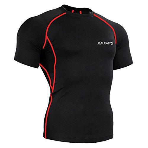 Baleaf Men's Short Sleeve Running Fitness Workout Compressio