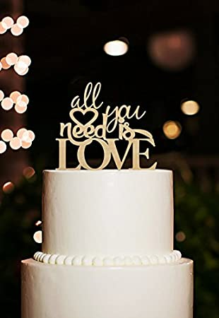 Amazon all you need is love cake topper unique wedding cake all you need is love cake topper unique wedding cake topper romantic love cake junglespirit Choice Image