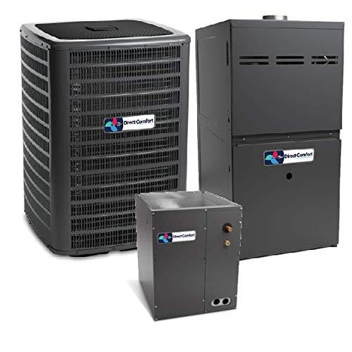 - Direct Comfort 3.5 Ton 14.5 SEER Heat Pump DC-GSZ140421, Coil DC-CAPF4860C6, 100,000 BTU 80% AFUE Upflow Gas Furnace DC-GMVC81005CN